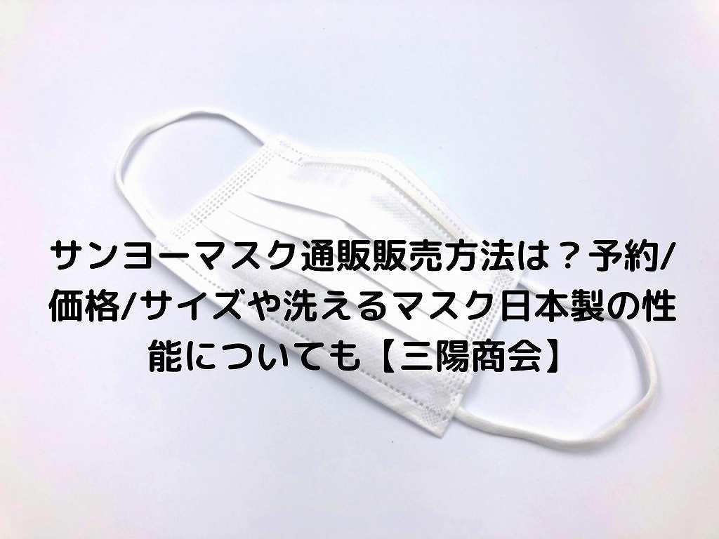 通販 マスク 三 商会 陽